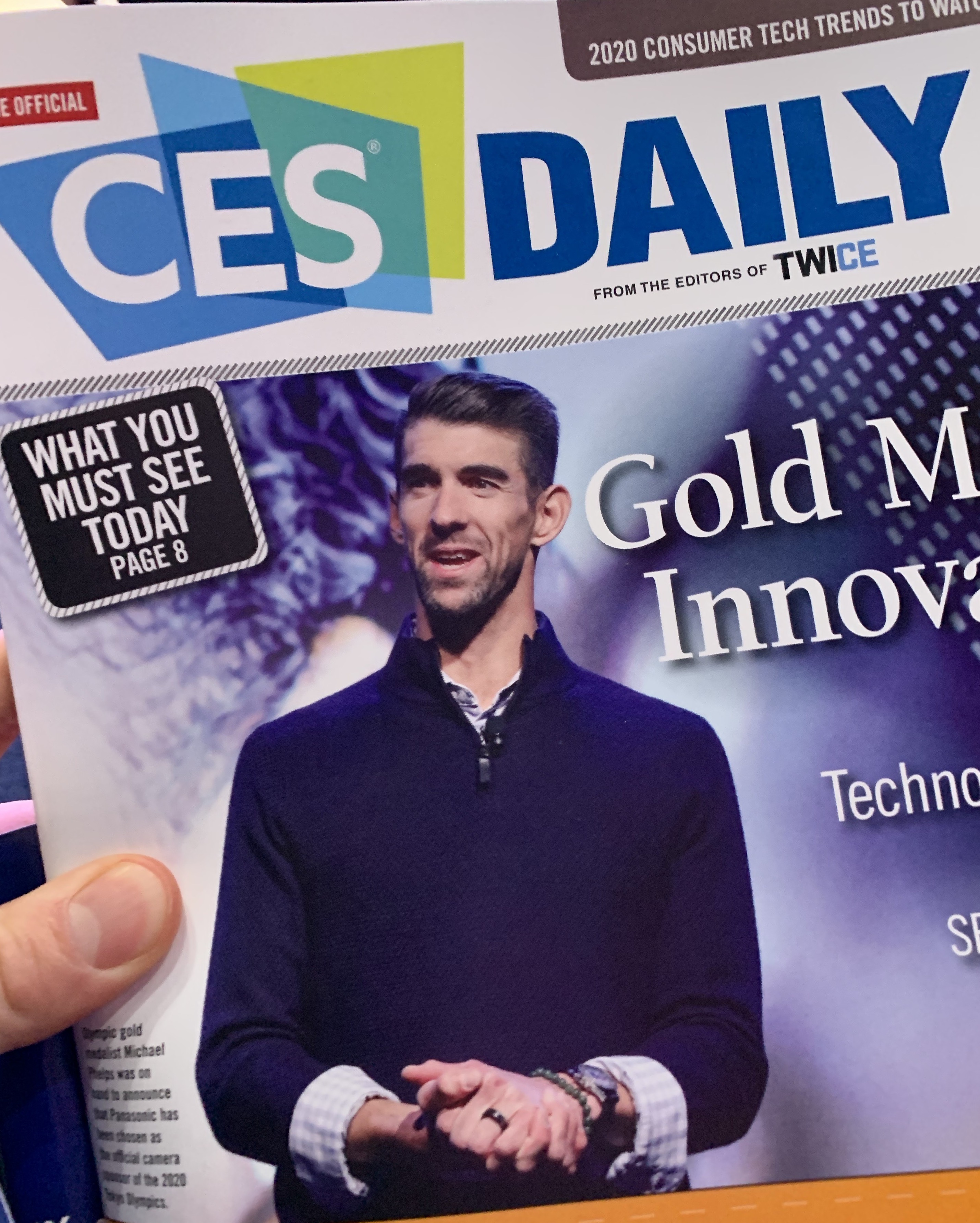 Michael Phelps at CES