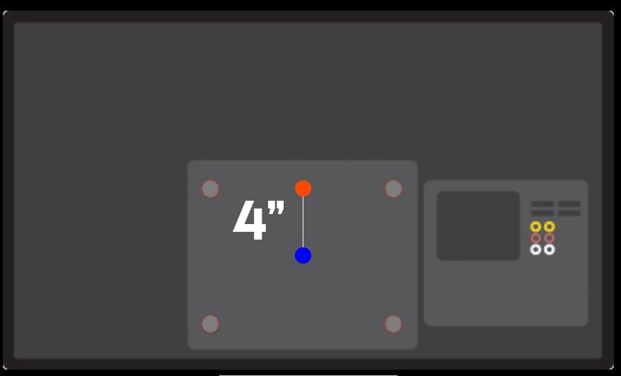 Adjust TV screen height based on VESA pattern location