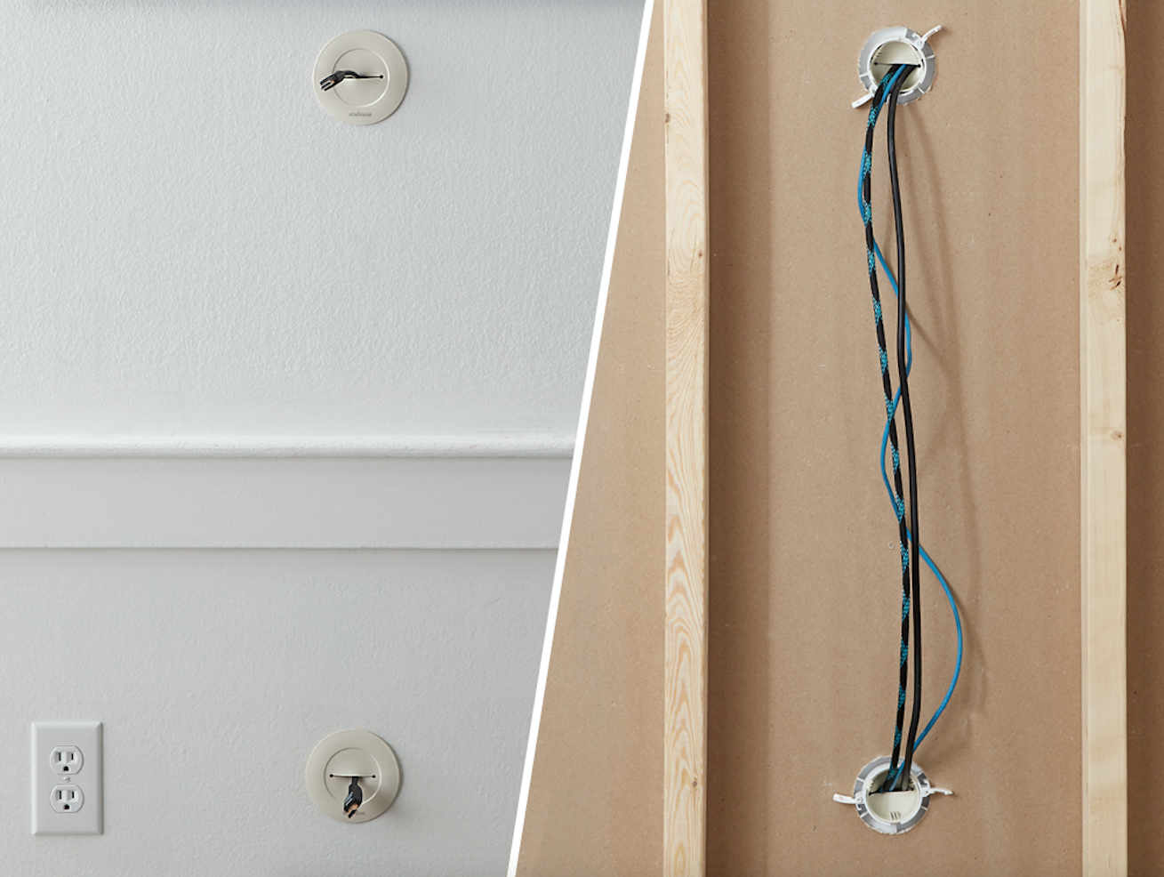 How To Hide TV Wires In Or On The Wall - ECHOGEAR Hidden Wiring on