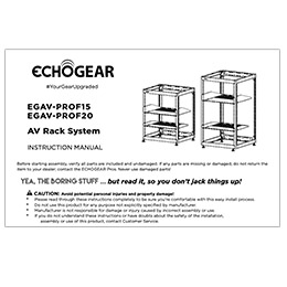 installation manual for echogear open frame racks