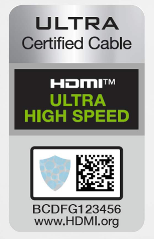 HDMI 2.1 Ultra high speed certified cable