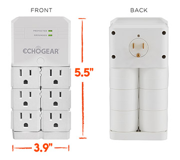 rotating outlet surge protector for home