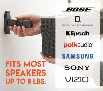 This mount fits all major brands standalone speakers