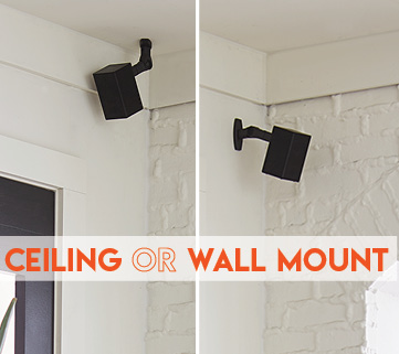 A speaker mount that can be mounted on ceiling or wall and i also weather resistant