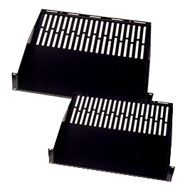 universal vented 1U shleves for open frame racks