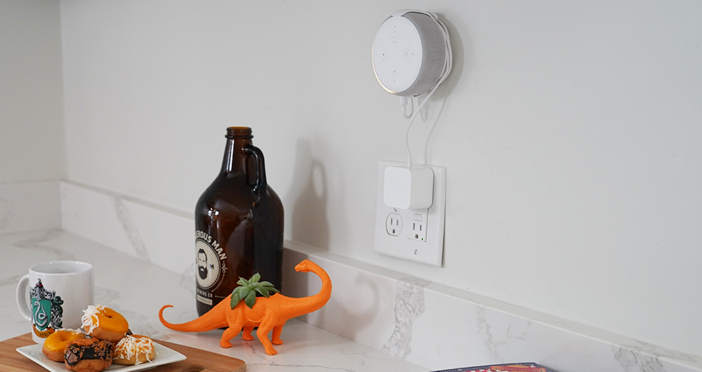 echo dot wall mount