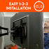 """Three step install for TVs up to 70"""""""