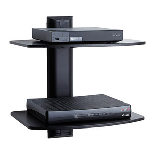 Dual Steel Wall-Mounted AV Shelf - EGAV2