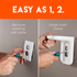 Installs in two steps for an enjoyable install experience in your kitchen, bathroom, or anywhere else.