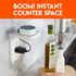 Create counter space in under 15 minutes with an outlet shelf.