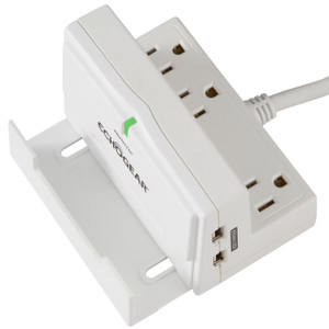 8-Outlet Rotating-Plug Surge Protector Power Strip - ECHOGEAR