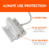 this small surge protector can charge your phone with both AC and USB outlets
