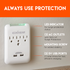 450j of surge protection to keep your electronics safe