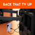 Works with wall mounted tv brackets to provide safe, surge-free power to your TV