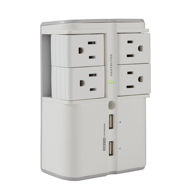 Wall surge protector for electronics, appliances, and smart devices