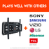 Works with many TV brands, including Sony, Samsung, Vizio, and more