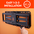 Low profile installation can be completed in 3 easy steps