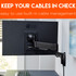 Wrangle those cables in the built-in cable management .