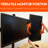 Adjust your screens to vertical or horizontal position on the fly