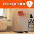 FTC Certified with a 5 year warranty