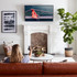 Low profile design looks great anywhere, but is perfect for over-mantle mounting