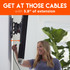 Extend your TV from the wall to get easy access to cables