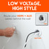 Route low voltage cables like HDMI and Aux in drywall