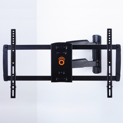 Full motion, single-stud mount perfect for corners