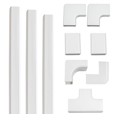 On wall cable management kit