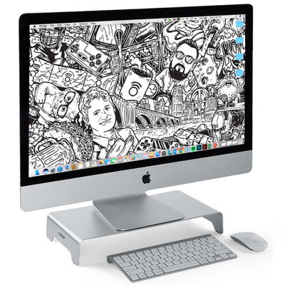 Aluminum laptop stand for large computer monitors
