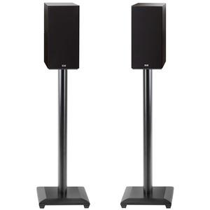 "28"" bookshelf speaker stand for speakers weighing up to 25 lbs."