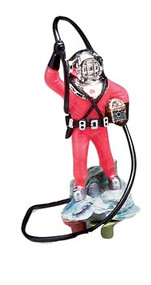 Action Air Diver with Hose Live-Action Aerating Aquarium Ornament - Color May Very