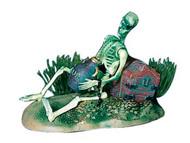 Action Air Pirate Skeleton w/Jug & Treasure Chest Live-Action Aerating Aquarium Ornament