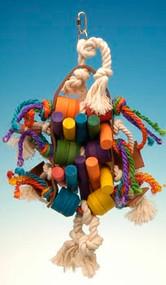 Penn Plax Leather Kabob Bird Toys 10 by 16.5-Inch
