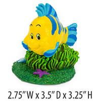 Penn Plax The Little Mermaid Flounder Aquarium Ornament Medium
