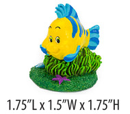 Penn Plax Little Mermaid Flounder Aquarium Ornament Mini