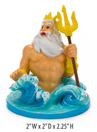 Penn-Plax Disney's Little Mermaid King Triton Aquarium Ornament Mini