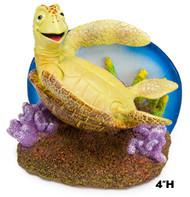 Penn Plax Finding Nemo Resin Ornament Crush Backflipping 4-Inch