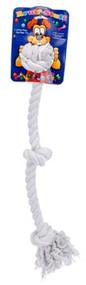 Penn Plax 3-Knot Dog Rope Toy Ruff Large White