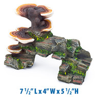 Penn Plax Large Mushroom on Rock Fish Tank Decoration