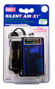 Penn-Plax Silent Air X-1 Air Pump - 10 gallon - 1 outlet