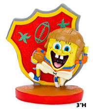 Penn Plax SpongeBob Football Player Resin Aquarium Decor