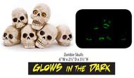 Penn Plax Skulls Aquarium Ornament Glows in the Dark
