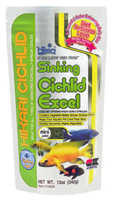 Hikari Cichlid Excel Sinking Pellets for Pets 12-Ounce