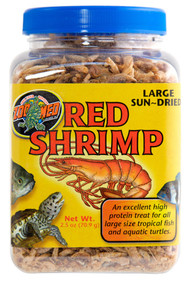 Zoo Med Sun Dried Large Red Shrimp 2.5-Ounce