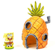 Penn Plax Spongebob & Pineapple Home Aquarium Decorations