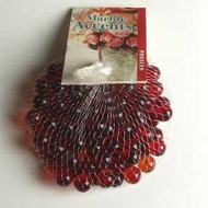 "Panacea Red Glass Marbles 100 Count 1/2"" in Diameter"