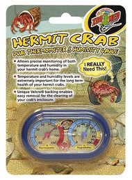 Zoo Med Hermit Crab Thermometer and Humidity Gauge Colors May Vary