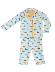 Wiener Dogs Kids Flannel Classic PJ Sets