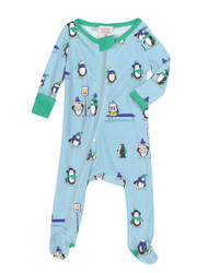 Penguin Parade Infant Zip Front Rib Blanket Sleeper